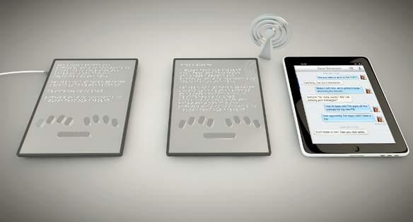 タブレットでも点字が読める! 世界初の点字が実際に浮き出るタブレット「BLITAB」 5番目の画像