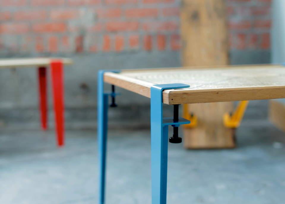 DIY感覚で楽しめる。あらゆる板を机に変える魔法の脚でオリジナリティ溢れるテーブルをつくろう 1番目の画像