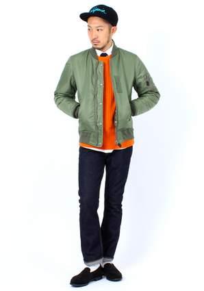 今冬のトレンドはモード✕ストリート! 大人コートの代表格、フライトジャケット・MA-1の着こなし 4番目の画像