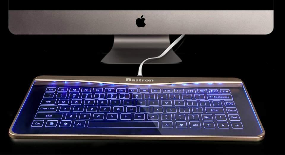 これが近未来のキーボードの形? 厚さ5mmで透明、ジェスチャー操作にも対応 3番目の画像