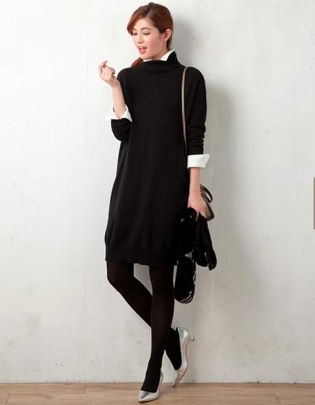 魅せるブラックでフォーマルスタイルを作る。ベーシックカラーのブラックの綺麗な着こなし 3番目の画像