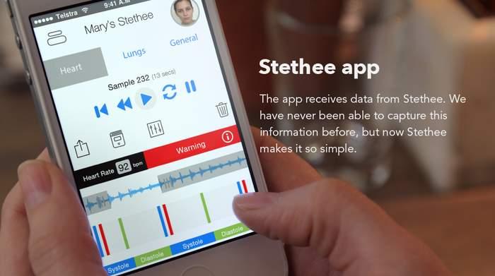 健康的な生活を送りたい人へ。ワイヤレス聴診器「Stethee」はスマホと連携し、心拍数を追跡 3番目の画像