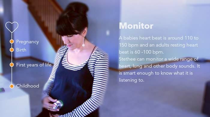 健康的な生活を送りたい人へ。ワイヤレス聴診器「Stethee」はスマホと連携し、心拍数を追跡 4番目の画像