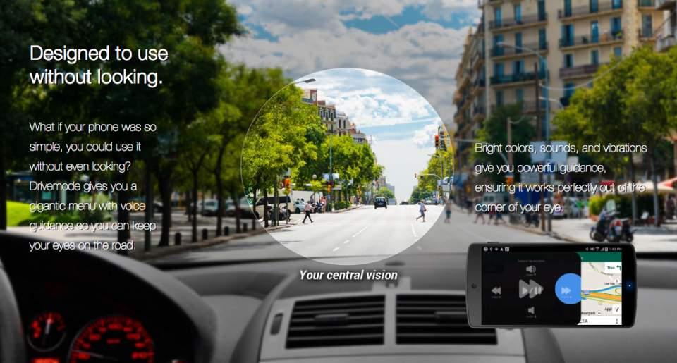 カーナビに気を取られて危ない! そんな「よそ見」を未然に防ぐカーナビアプリ「Drivemode」 2番目の画像