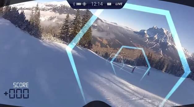 まるでゲームの世界! ARビジョン搭載ゴーグル「RideOn」がウィンタースポーツを変える 3番目の画像