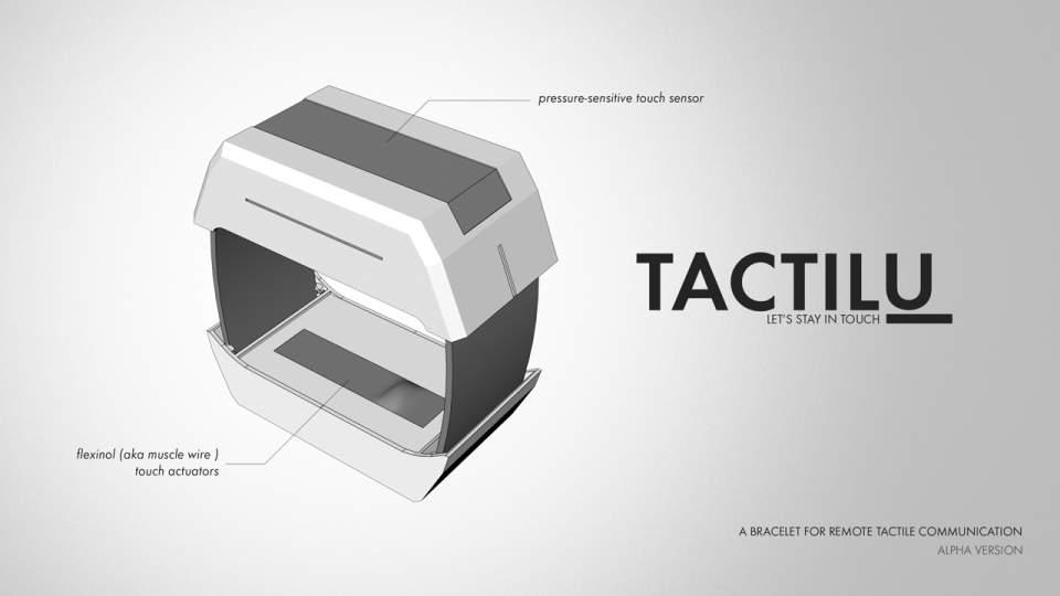 遠くにいる人に触れることができる? 遠隔コミュニケーションの常識を覆すデバイス「TACTILU」 2番目の画像