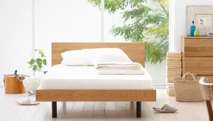 シンプルで素朴なデザインも魅力。アレンジできる楽しさが詰め込まれた無印良品のベッド 1番目の画像