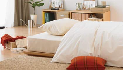 シンプルで素朴なデザインも魅力。アレンジできる楽しさが詰め込まれた無印良品のベッド 4番目の画像