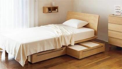 シンプルで素朴なデザインも魅力。アレンジできる楽しさが詰め込まれた無印良品のベッド 5番目の画像