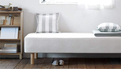 シンプルで素朴なデザインも魅力。アレンジできる楽しさが詰め込まれた無印良品のベッド 7番目の画像