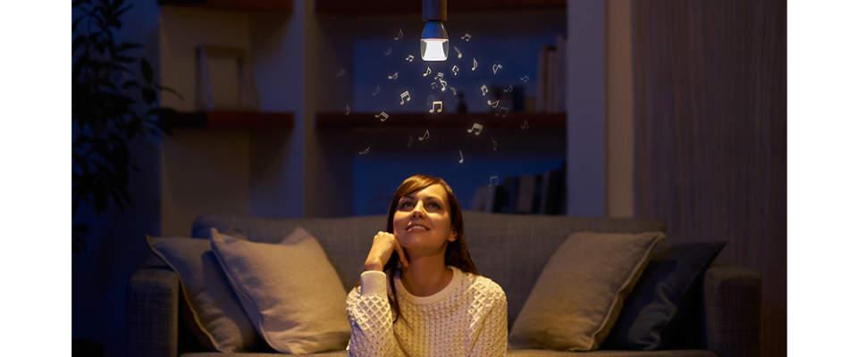 光とともに音が降り注ぐ新体験。斬新なアイデアで生み出されたスピーカー付きの照明 2番目の画像
