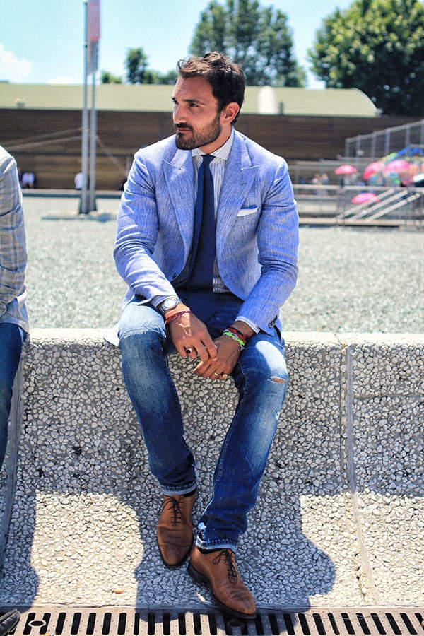 革靴×ジーンズで大人なカジュアルスタイル作り。男らしさを引き出すコーディネート術 5番目の画像