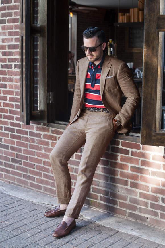 オフィスカジュアルの新発想。「ジャケット×ポロシャツ」の着こなしで夏をクールに、おしゃれに。 2番目の画像