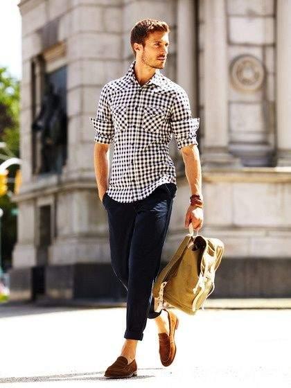 簡単に垢抜ける、チェックシャツのコーデ術。世界のおしゃれメンズから学ぶ、チェックシャツの成功法 8番目の画像