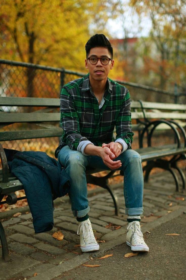 秋冬のデイリーコーデには鉄板のネルシャツを。おしゃれメンズが魅せるネルシャツの洒落た着こなし方 2番目の画像