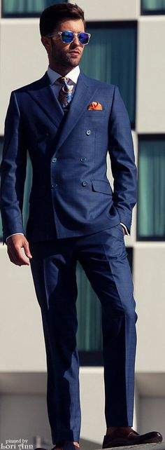 叫ばれるダブルスーツの「復権」。世界のお洒落メンズが着こなすダブルスーツのコーデ集! 7番目の画像