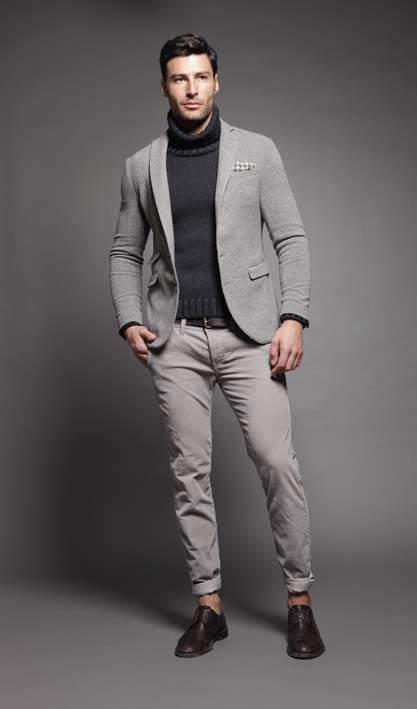 大人の男こそ着こなしたい。秋冬トレンドアイテム、タートルネックの5色のカラー別コーディネート 2番目の画像
