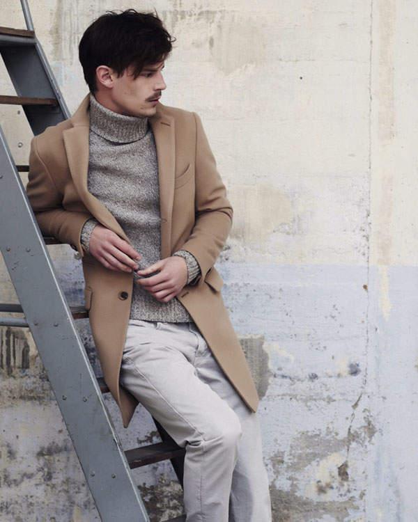 大人の男こそ着こなしたい。秋冬トレンドアイテム、タートルネックの5色のカラー別コーディネート 3番目の画像