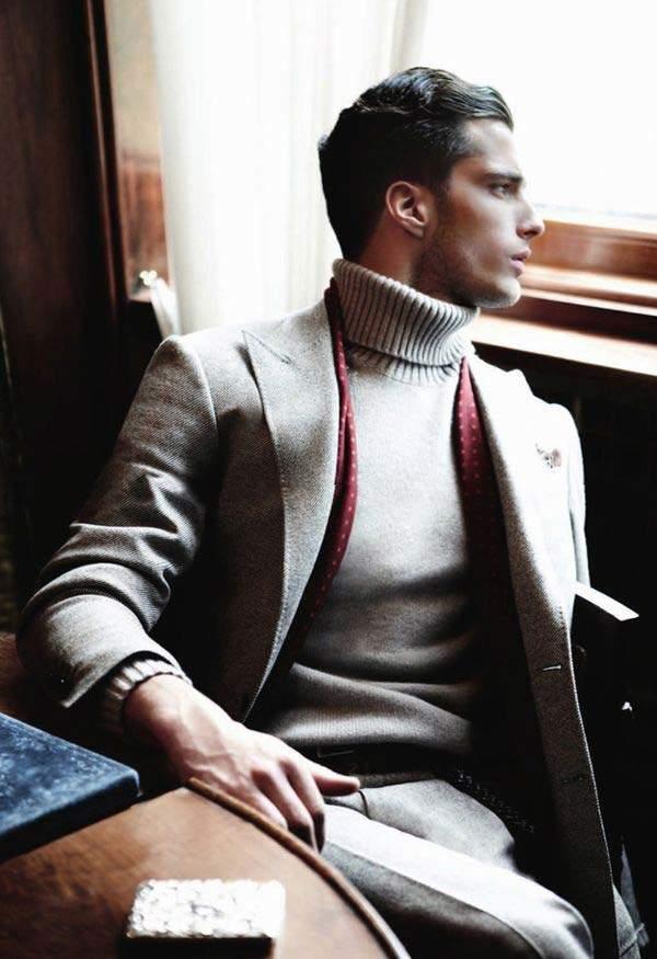 大人の男こそ着こなしたい。秋冬トレンドアイテム、タートルネックの5色のカラー別コーディネート 4番目の画像