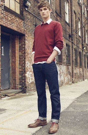 """カラーセーターの持つ様々な顔を攻略せよ! """"赤セーター""""を取り入れた秋冬メンズコーデを一挙ご紹介 3番目の画像"""
