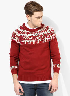 """カラーセーターの持つ様々な顔を攻略せよ! """"赤セーター""""を取り入れた秋冬メンズコーデを一挙ご紹介 8番目の画像"""