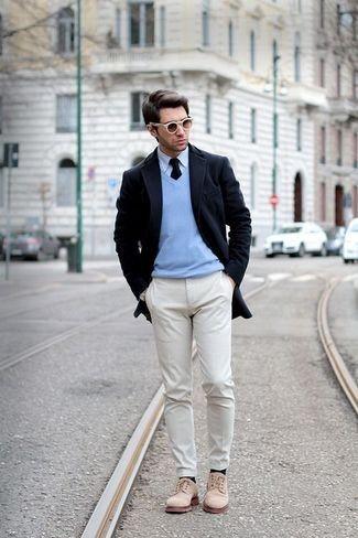 冬の定番セーター×シャツコーデを体得せよ! バリエーション豊かなセーターとシャツの組み合わせ集 7番目の画像