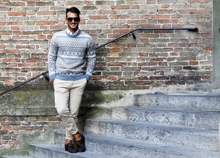 冬の定番セーター×シャツコーデを体得せよ! バリエーション豊かなセーターとシャツの組み合わせ集 1番目の画像