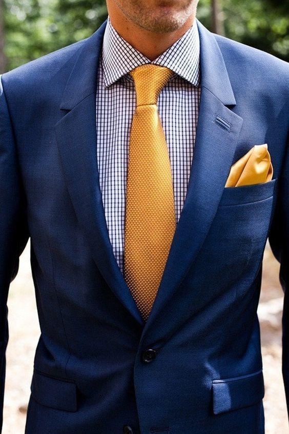 """ネクタイが彩る、魅惑のネイビースーツコーデ集:""""いつも""""を変えるたった4つのテクニック 9番目の画像"""