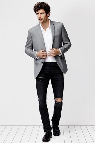 トップス別 20-30代男性のための「ジーンズのサイズの選び方」:オフィスカジュアルかモードか? 5番目の画像