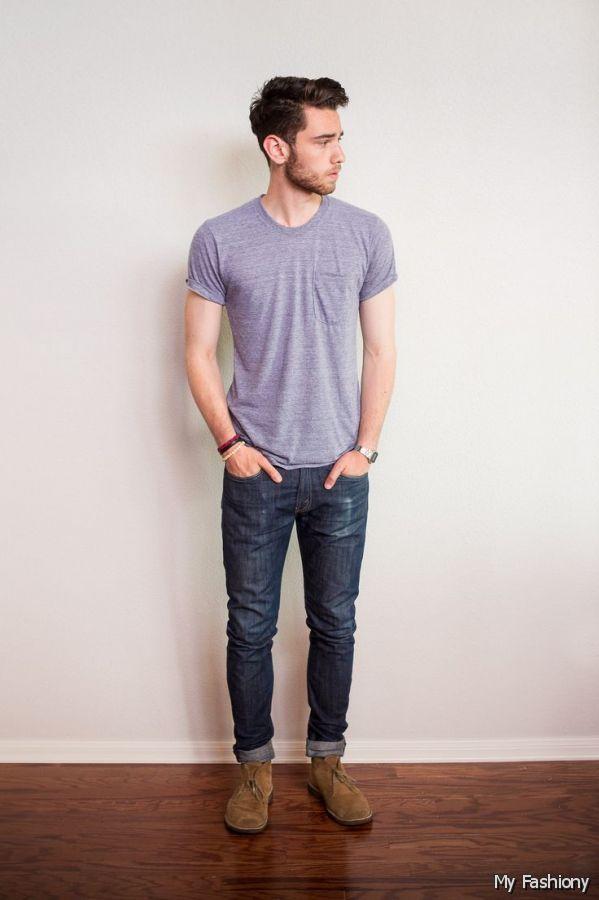 トップス別 20-30代男性のための「ジーンズのサイズの選び方」:オフィスカジュアルかモードか? 2番目の画像