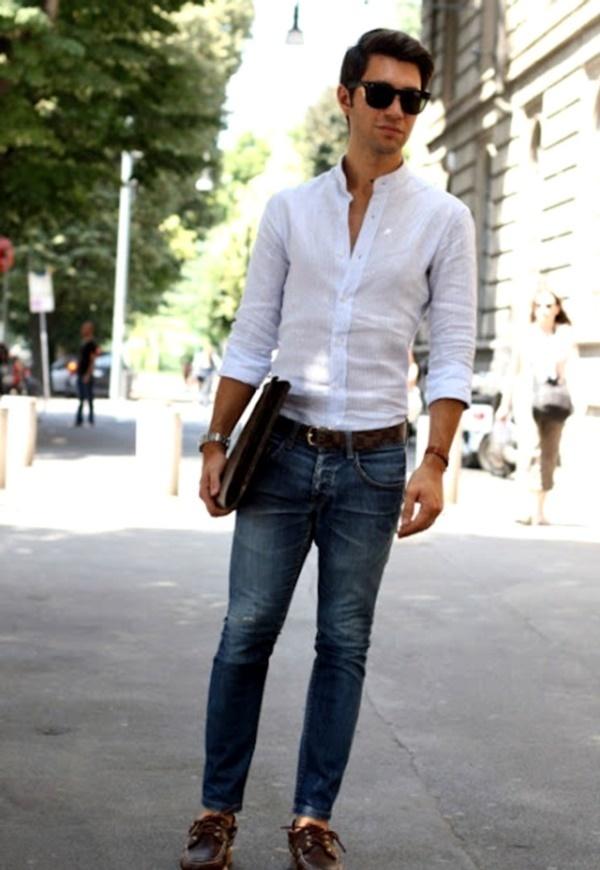 """メンズファッションの大黒柱、""""白シャツコーデ""""決定版:これからの季節には白シャツで爽やかに飾れ 3番目の画像"""