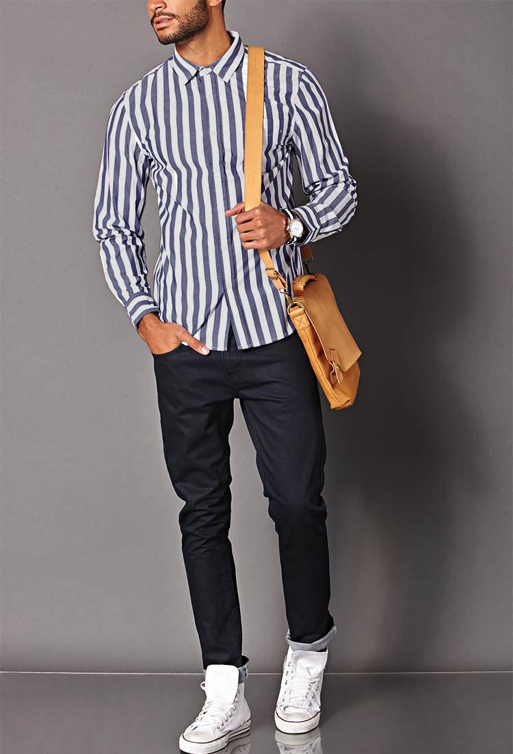 """一枚で好印象メンズに。爽やかコーデは""""ストライプシャツ""""だけで作れる! 2番目の画像"""