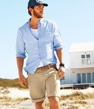 """夏の大人メンズは""""ハーフパンツ""""で爽やかに飾れ! イマドキのおしゃれな着こなしは""""膝上丈""""が正解 6番目の画像"""