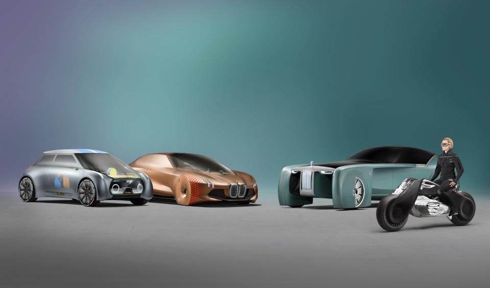 """BMWグループ""""次の100年構想"""":コンセプトバイクは自立&ヘルメット不要だった!! 2番目の画像"""