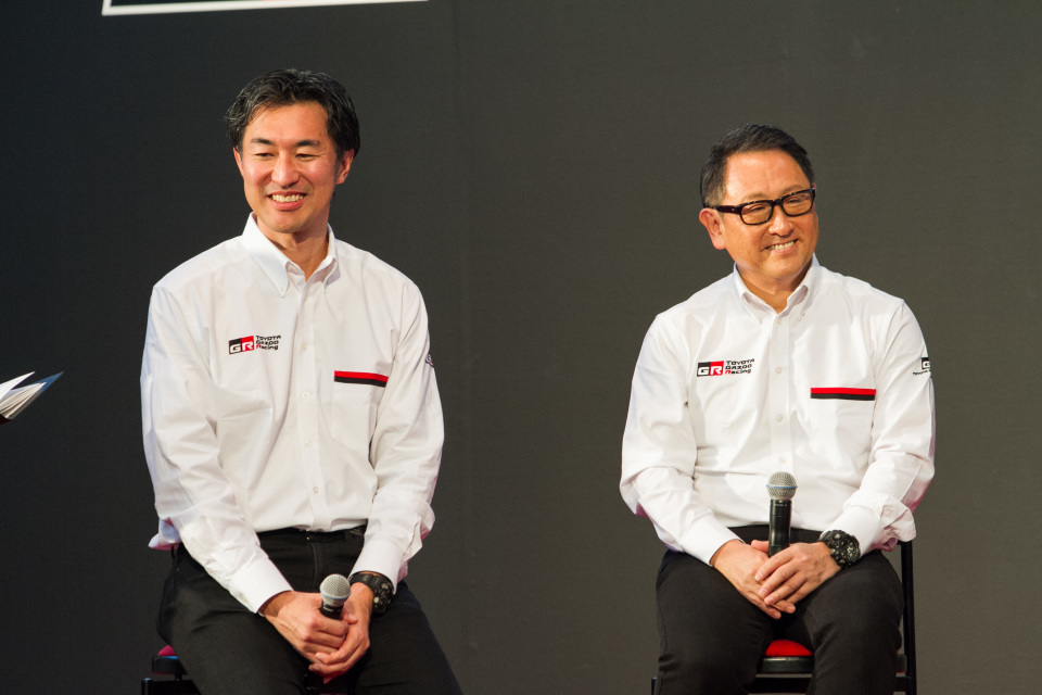 「TOYOTA GAZOO Racing」2017年活動計画発表会に豊田章夫社長がサプライズ登壇 3番目の画像