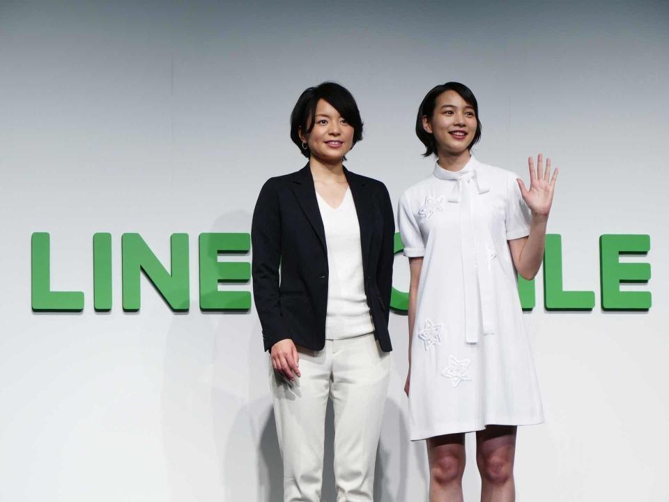 LINEモバイル新CM発表会に女優のんさん登壇:夏には通話定額オプションも導入? 1番目の画像