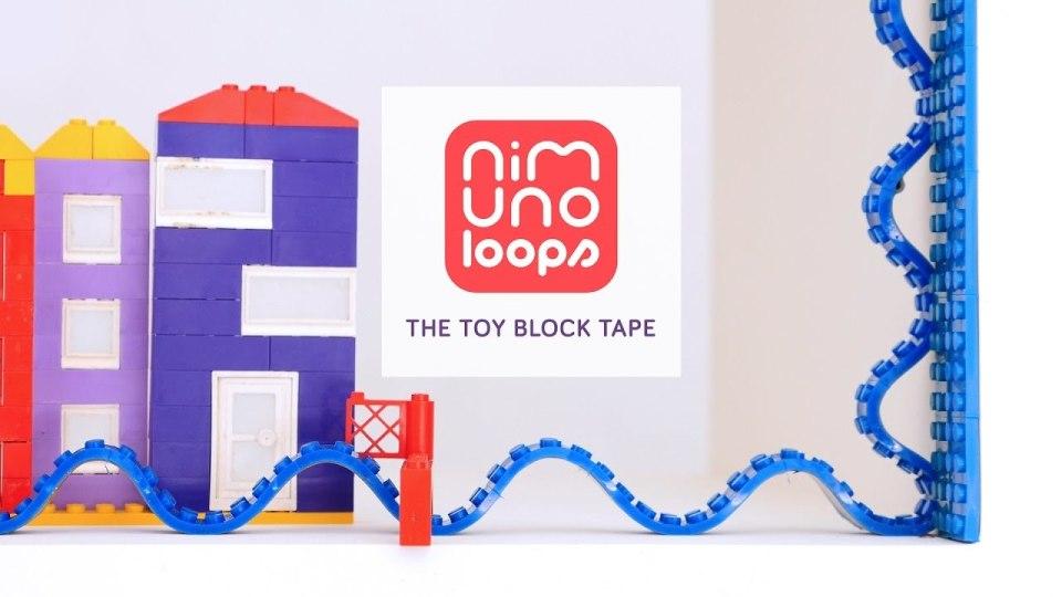 レゴブロックがテープになった「Nimuno Loops」は遊び方無限大だった! 1番目の画像