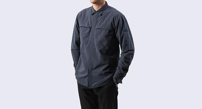 THE NORTH FACEのシーンレスな高機能シャツはオンもオフも、きちんと着やすい。 6番目の画像