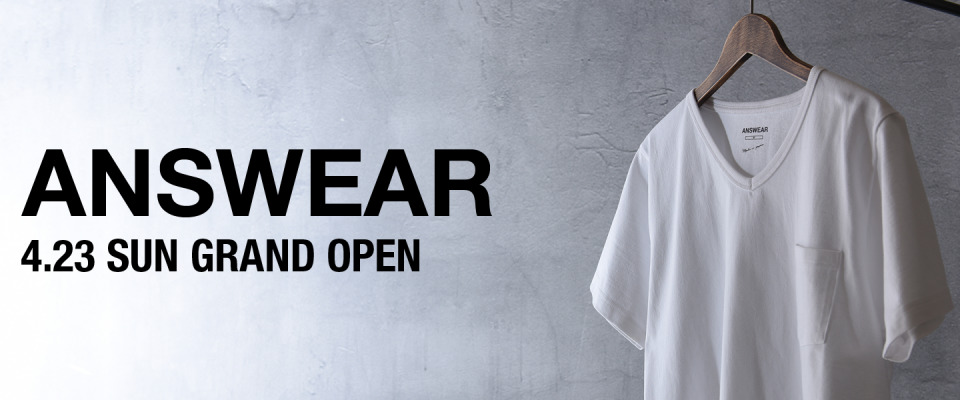 """5月3日「肌が透けない白無地Tシャツ」数量限定で再販決定。透けないオトコの""""ANSWEAR"""" 1番目の画像"""