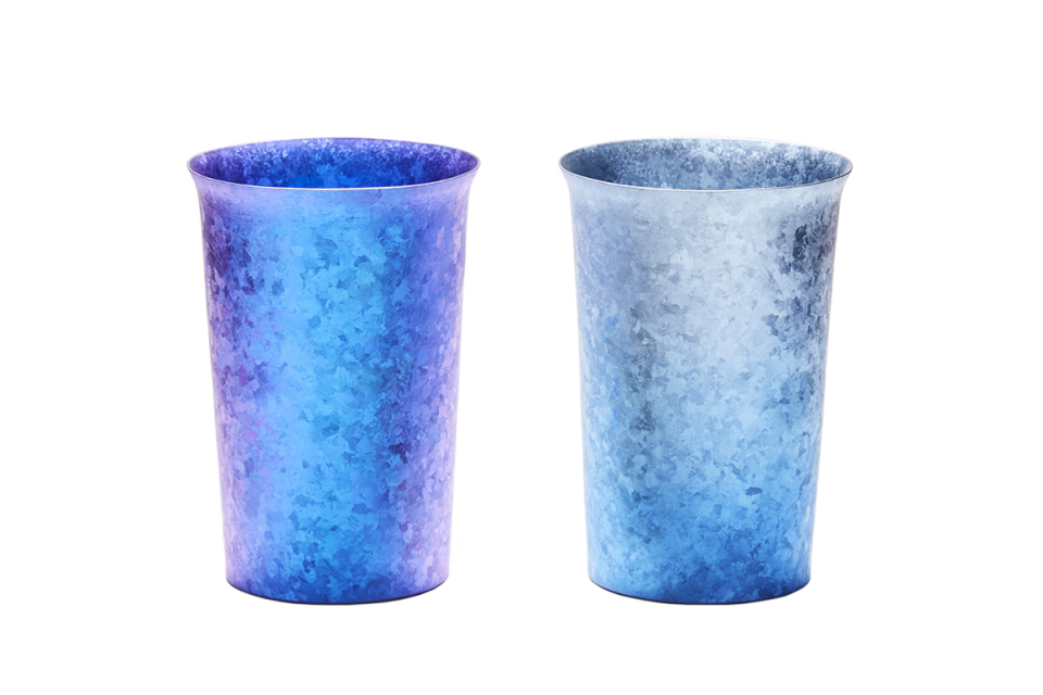 美しい青に心奪われる。夏は冷たく、冬は温かさが続く中宮虎熊店「純チタンタンブラー」 1番目の画像