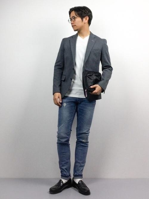 """真の洒落男が着こなす「ジャケット×ジーンズ」:本当の""""かっこいい""""を魅せる、ジャケジーのコーデ術 6番目の画像"""