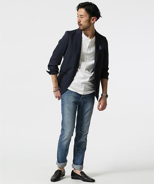 """真の洒落男が着こなす「ジャケット×ジーンズ」:本当の""""かっこいい""""を魅せる、ジャケジーのコーデ術 7番目の画像"""