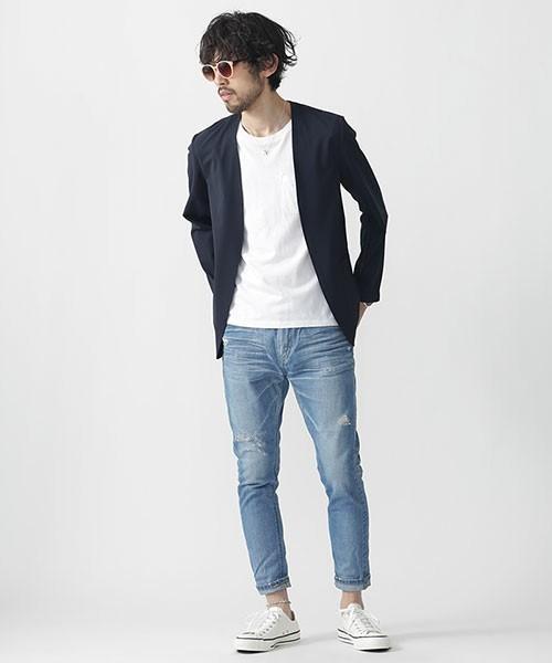 """真の洒落男が着こなす「ジャケット×ジーンズ」:本当の""""かっこいい""""を魅せる、ジャケジーのコーデ術 8番目の画像"""