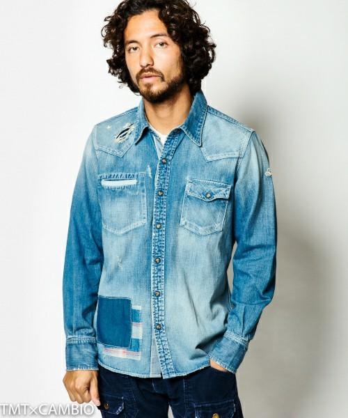 デニムシャツをおしゃれにかっこよく着こなすには?おしゃれメンズから学ぶ「デニムシャツのコーデ術」 1番目の画像