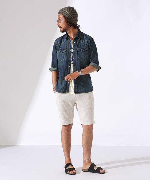 デニムシャツをおしゃれにかっこよく着こなすには?おしゃれメンズから学ぶ「デニムシャツのコーデ術」 2番目の画像