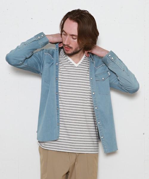 デニムシャツをおしゃれにかっこよく着こなすには?おしゃれメンズから学ぶ「デニムシャツのコーデ術」 7番目の画像