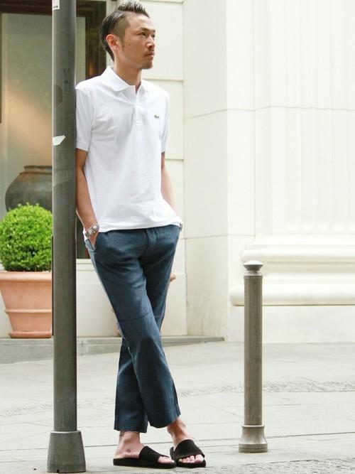 大人メンズの大定番「LACOSTE」のポロシャツ。女性の好感度◎なコーディネート集 3番目の画像