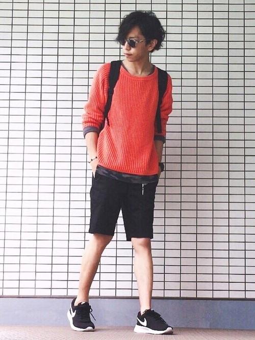 夏の鉄板スタイル!スニーカー×ハーフパンツコーデ特集 9番目の画像