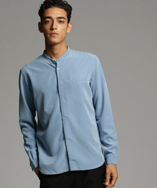 ファッショニスタはこれを着ていた!まわりと差がつくバンドカラーシャツ特集 4番目の画像
