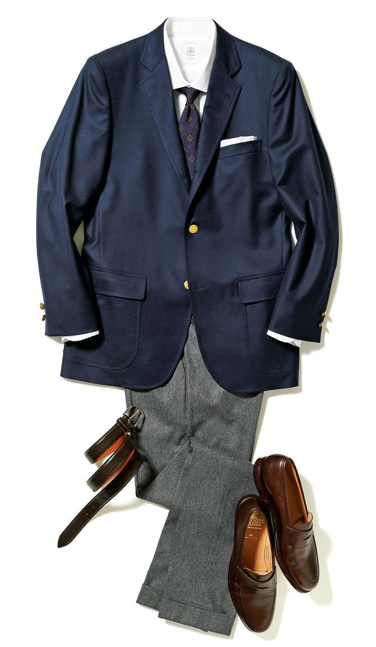 """【""""着回し力""""で選ぶジャケット&パンツ】紺ブレが一着あれば、仕事も休日も1week対応できる! 1番目の画像"""